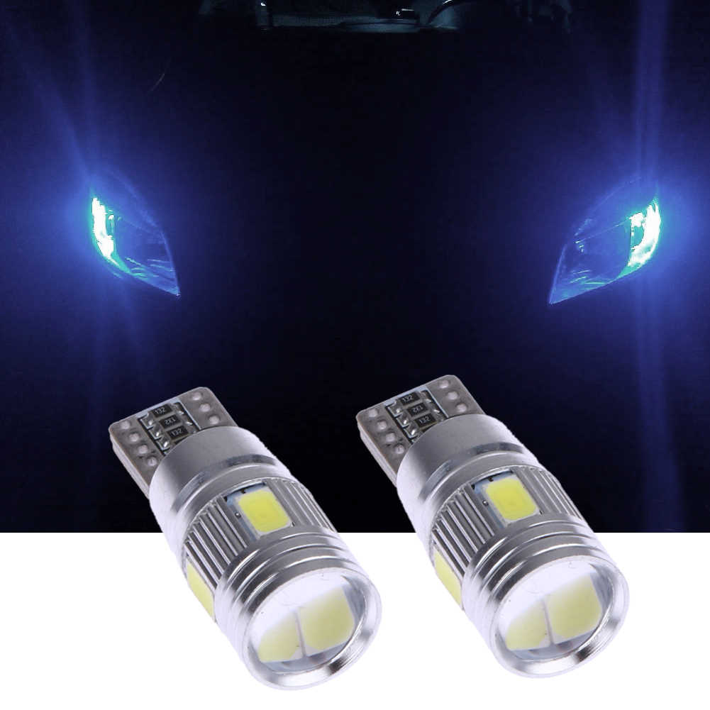 2/4/6 pieces Car LED Clearance Lights Canbus T10 5630 6SMD Decoding W5W 12V Parking Fog Light Bulb For Car Styling Accessaries
