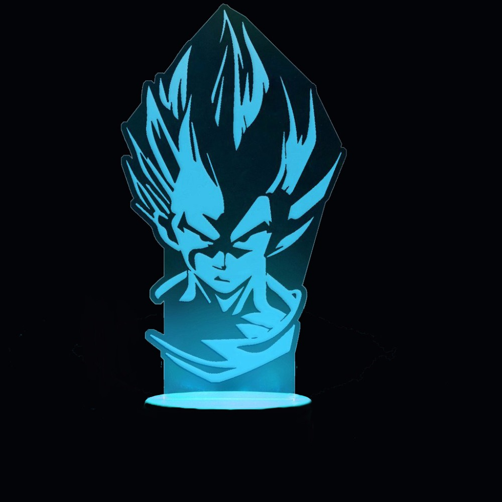 3D Led Anime Dragon Ball Modelling Night Light 7 Colorful Vegeta Table Lamp Usb Bedroom Sleep Lighting Fixtures Decor Kids Gifts
