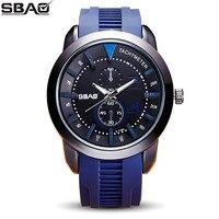 SBAO Marca de Fábrica Por Atacado relógio de Quartzo Dos Homens Relógios Coloridos de Silicone Masculino Moda Casual Menino Relógio Militar Esportes Ao Ar Livre Venda Quente
