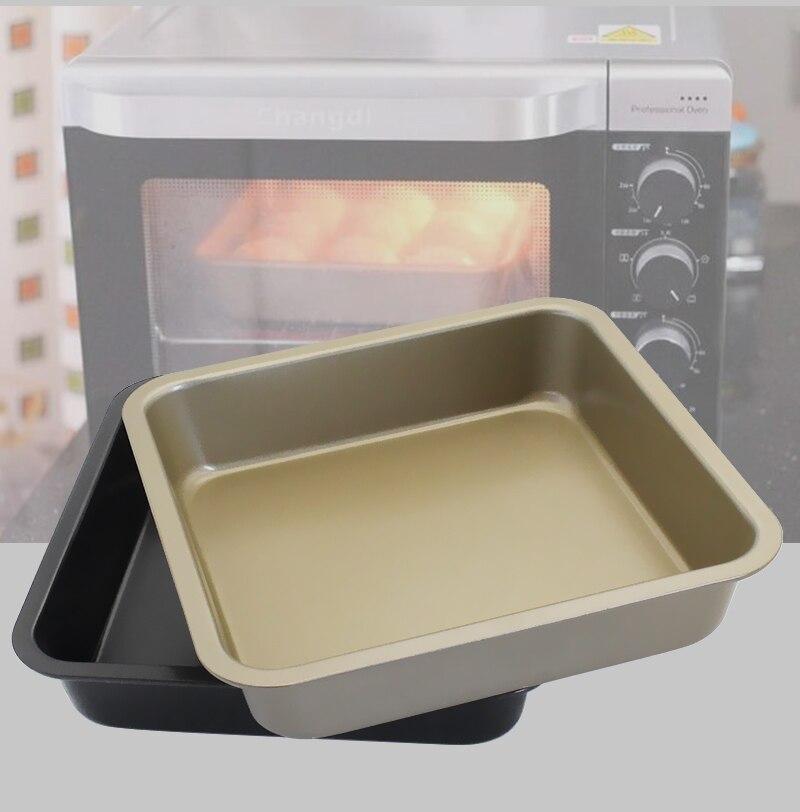 Haute qualité en acier au carbone Avancée Antiadhésive carré plat de cuisson Plateau utensilios para microondas meilleur plaques à biscuits plaque de cuisson
