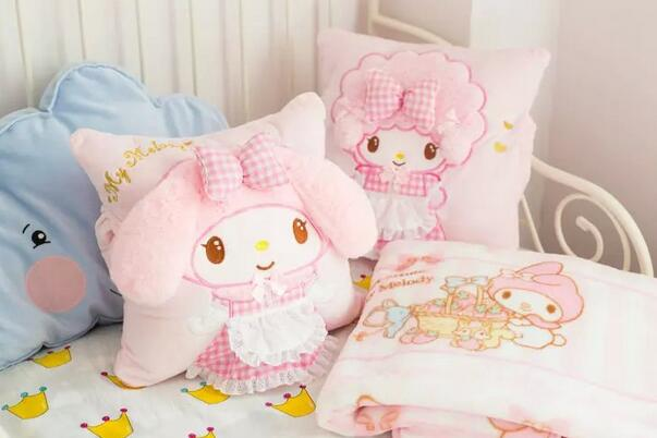 Candice guo! hot sale super cute plush toy pink melody sheep cushion hand warm blanket girls birthday Christmas gift 1pc candice guo cute plush toy anime corgi pet shiba dog head hamburger cushion hand warm pillow birthday christmas gift 1pc