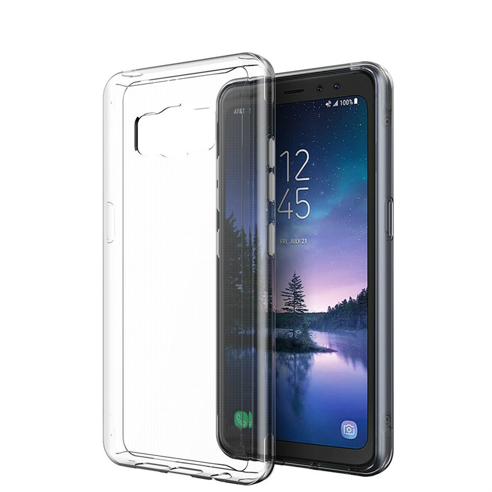 For Samsung Galaxy S8 Active Clear Case Soft TPU Case