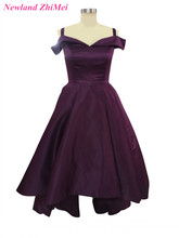 Sexy Off the Shoulder Prom font b Dresses b font Charming Woman A Line Satin font