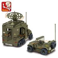 SLUBAN 0310 864PCS Army unit 2 spearhead.Legoings toys for children educational building blocks 3D DIY Figures