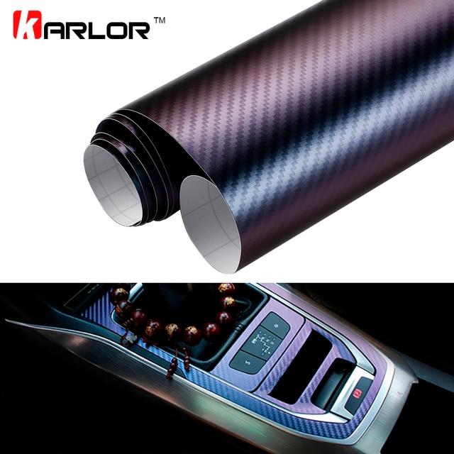 10*100 cm Chameleon 3D Carbon Fiber Vinyl Film Wrap Folie Auto Auto Lkw  Körper Dekoration Aufkleber Aufkleber Motorrad Car Styling in 10*100 cm ...