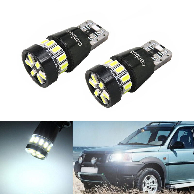 2x T10 3014 SMD 18 LED W5W Parking Lamp Clearance Light For Land Rover v8 discovery 4 2 3 x8 freelander 2 defender A8 a9