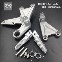 Front Driver Rider Foot Pegs For Honda CBR 1000 RR 2008 2009 2010 2011 2012 2013 2014 2015 Bracket Footrest CBR1000RR Foot Rests