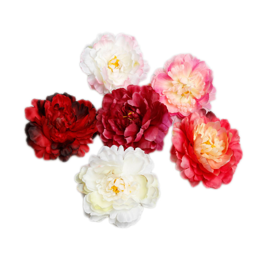 buy hot selling colorful diy artificial flowers peony silk flower hat clothing wedding accessories 6 colors from reliable artificial