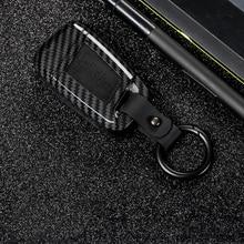2019 ABS PC Carbon Fiber Silica Gel Key Case Full-encircling for VW Magotan B8 330TSI DSG Smart Materials Durability