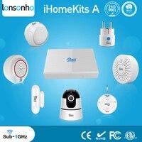 Lonsonho iHome умный дом автоматизация наборы движения PIR сенсор сирена детектор дыма двери сенсор EU/US Wi Fi розетка