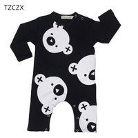 TZCZX 2020 New Children Baby Girls Boys Rompers Novelty Cartoon Printed Jumpsuit For 6 To 3