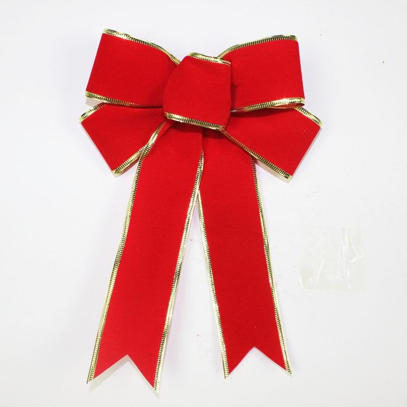 Nagy íj karácsonyi szalagok íj a fesztivál dekoráció karácsonyfa íj díszítés mesterséges íjak ellátás 25cm