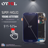 5.0 100% AMOLED LCD For SAMSUNG Galaxy S4 LCD Display Touch Screen with Frame For SAMSUNG S4 LCD i9500 i9505 i9506 i337 LCD #1