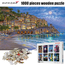 MOMEMO Adults 1000 Pieces Jigsaw Puzzle Romantic Night Figure Wooden Puzzles Assembling Toys Gifts Home Decoration