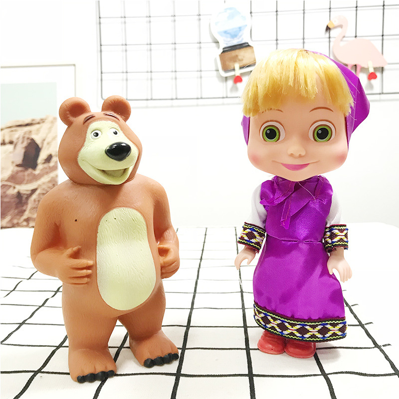 3944b9b86 masha and bear doll masha bear Action figure masha toys for children kid  baby toys doll