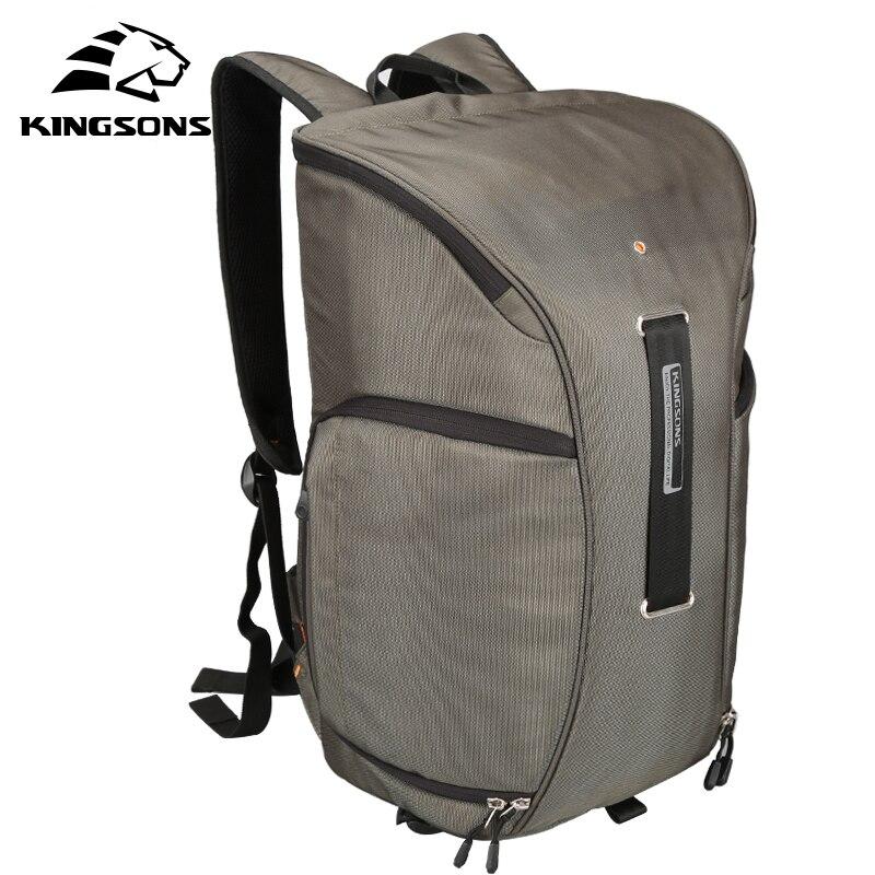 Kingsons ยี่ห้อใหม่กระเป๋าเป้สะพายหลังผู้หญิง Digital Dslr Photo กระเป๋าเป้สะพายหลัง w/Rain Cover กันน้ำกล้องนุ่มกระเป๋า-ใน กระเป๋าเป้ จาก สัมภาระและกระเป๋า บน   1