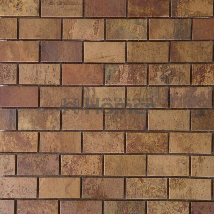 Free Shipping Bronze Mixed Steel Mosaic Tiles Wall