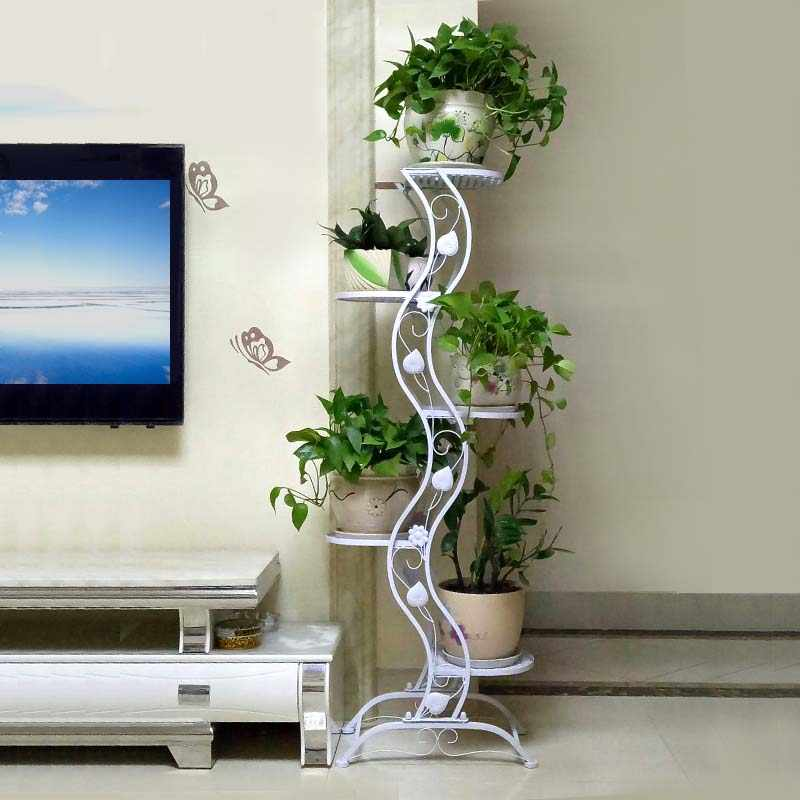 Wood Flower Stand Decoration Plant Flower Pot Stand Wedding Balcony Garden Table Living Room Flower Shelf