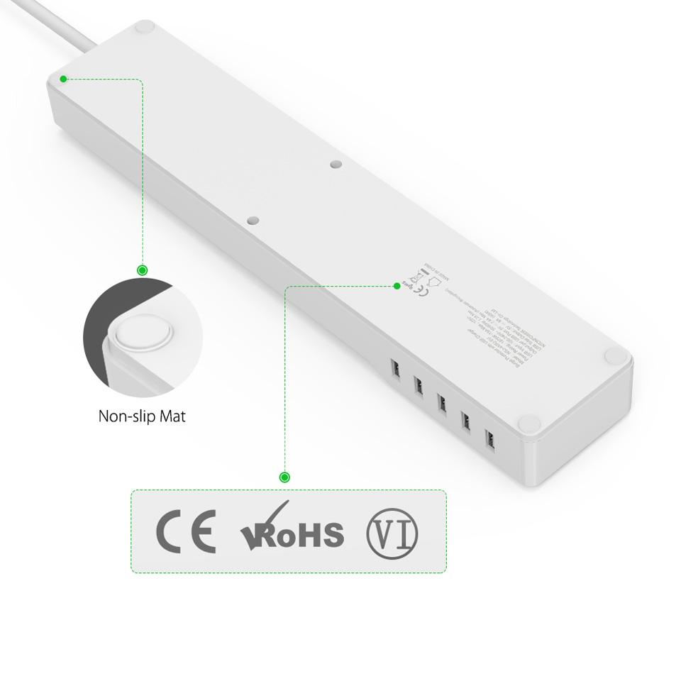 NTONPOWER EU Plug USB Power Socket Surge Protection (13)