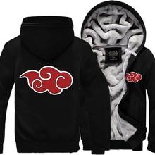 Sweatshirt männer Anime Naruto Uzumaki Naruto 2019 frühling winter fleece zipper hoodies mode sportswear harajuku trainingsanzüge kpop