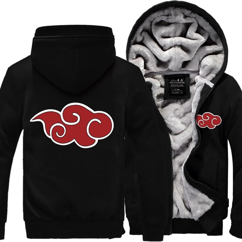 Sweatshirt Men Anime Naruto Uzumaki Naruto 2019 Spring Winter Fleece Zipper Hoodies Fashion Sportswear Harajuku Tracksuits Kpop