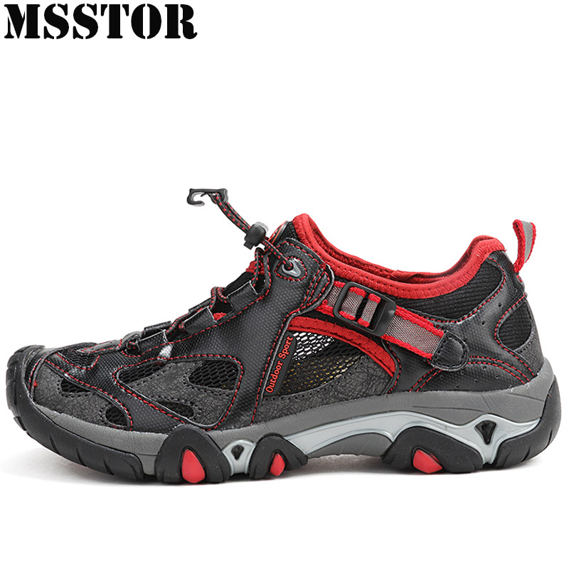 MSSTOR Men Hiking Shoes Man Brand Outdoor Athletic Upstream Wading Aqua Shoes Sport Shoes For Men Trekking Camping Mens Climbing msstor retro women men running shoes man brand summer breathable mesh sport shoes for woman outdoor athletic womens sneakers 46