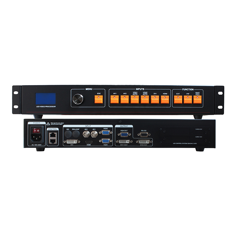 free shipping LED video processor scaler 1920*1200 Support 2 sending cards DVI VGA HDMI LED video wall controller Nova and Linsnfree shipping LED video processor scaler 1920*1200 Support 2 sending cards DVI VGA HDMI LED video wall controller Nova and Linsn
