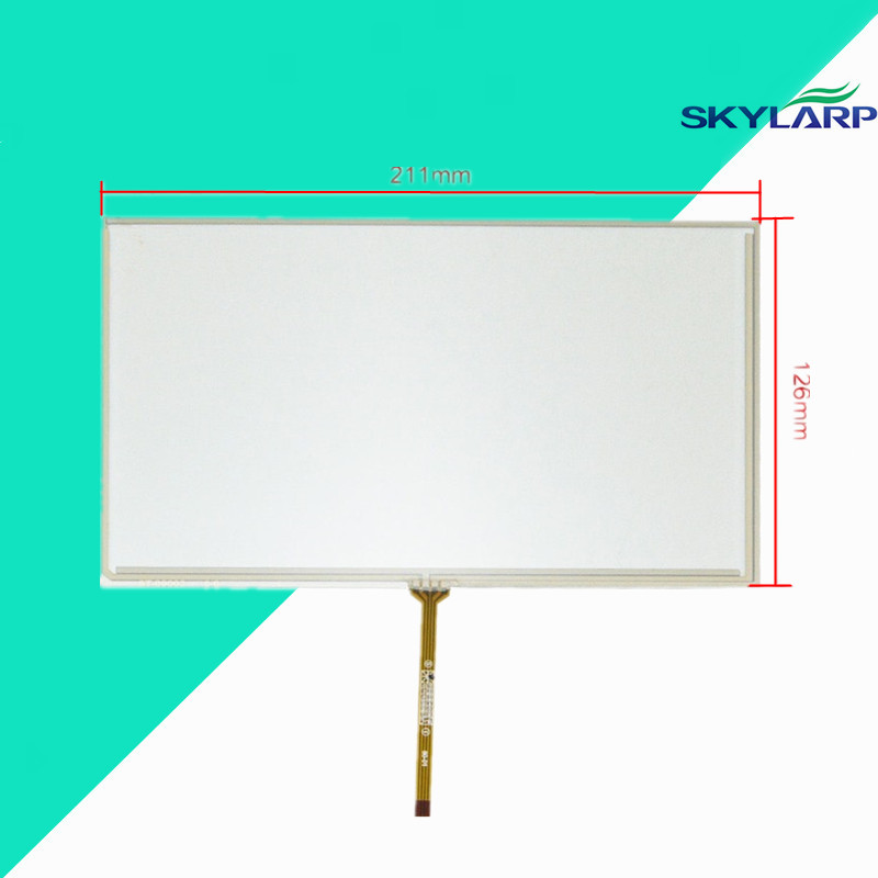 New 9 inch 4 Wire Resistive Touch Screen Panel for AT090TN10 TFT LCD Screen 211*126mm Screen touch panel Glass Free shipping
