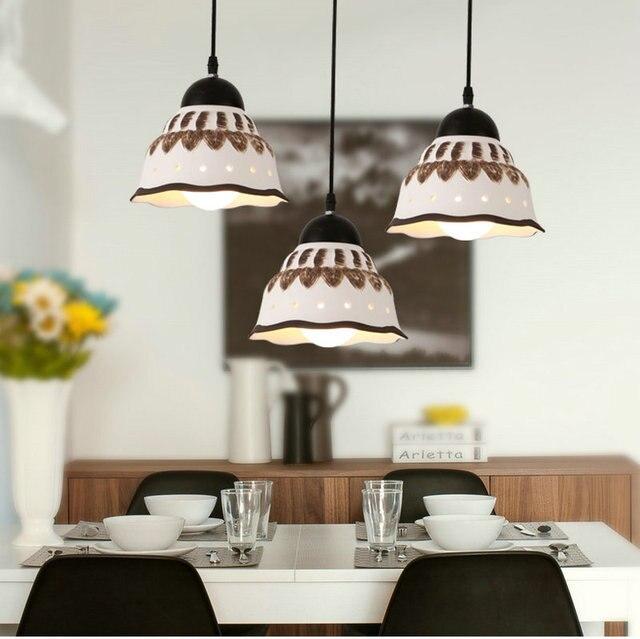 LED suspendus Lampe luminaria lustre Blanc en céramique abajur