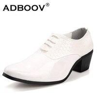 Mens Knit Black Party Shoes Gents Man 6cm High Heeled Plait Leather Wedding Shoes 2 3