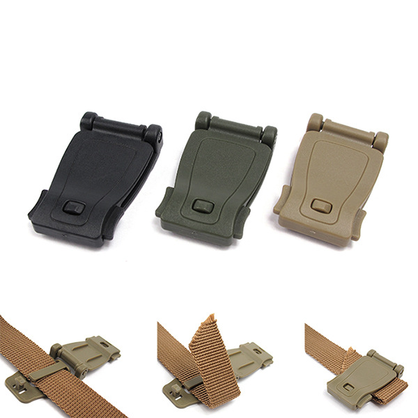 MEETEE 10pcs High quality Backpack fixed buckle Outdoors direct connection molle webbing buckle clip backpack accessories F7-16