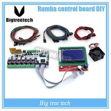 Biqu Румба 3D принтер Румба совета управления DIY + ЖК-дисплей 12864 контроллер дисплея + Перемычка + DRV8825 для RepRap 3D принтера