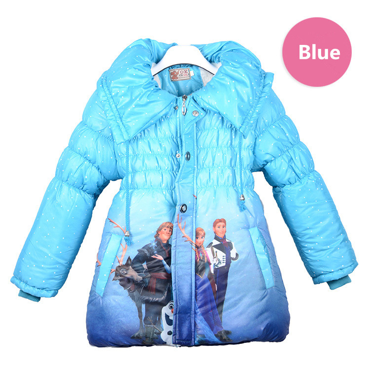 Ice And Snow Country Cotton-Padded Clothes Hight quality Coral fleece winter jackets coat extra thick Children's winter clothes