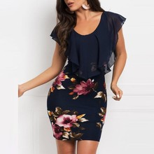 497d89766c Sexy Women summer dress Sleeveless Floral Printed Bodycon Holiday Party  Short Mini Dress Fashion bodycon dresses