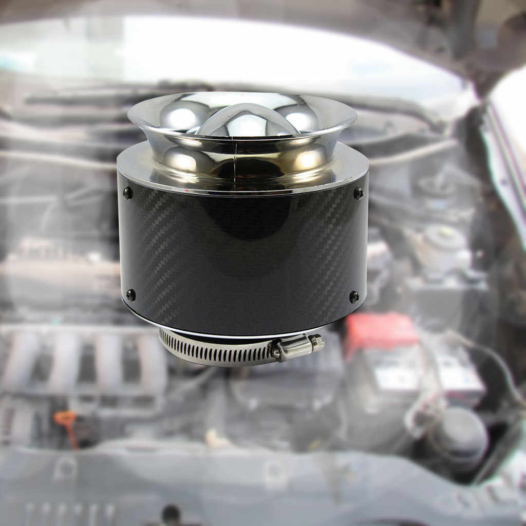 Auto carbon fiber luchtfilter intake air modificatie paddestoel hoofd netto cone 76mm/XH-UN013A 19Mar29