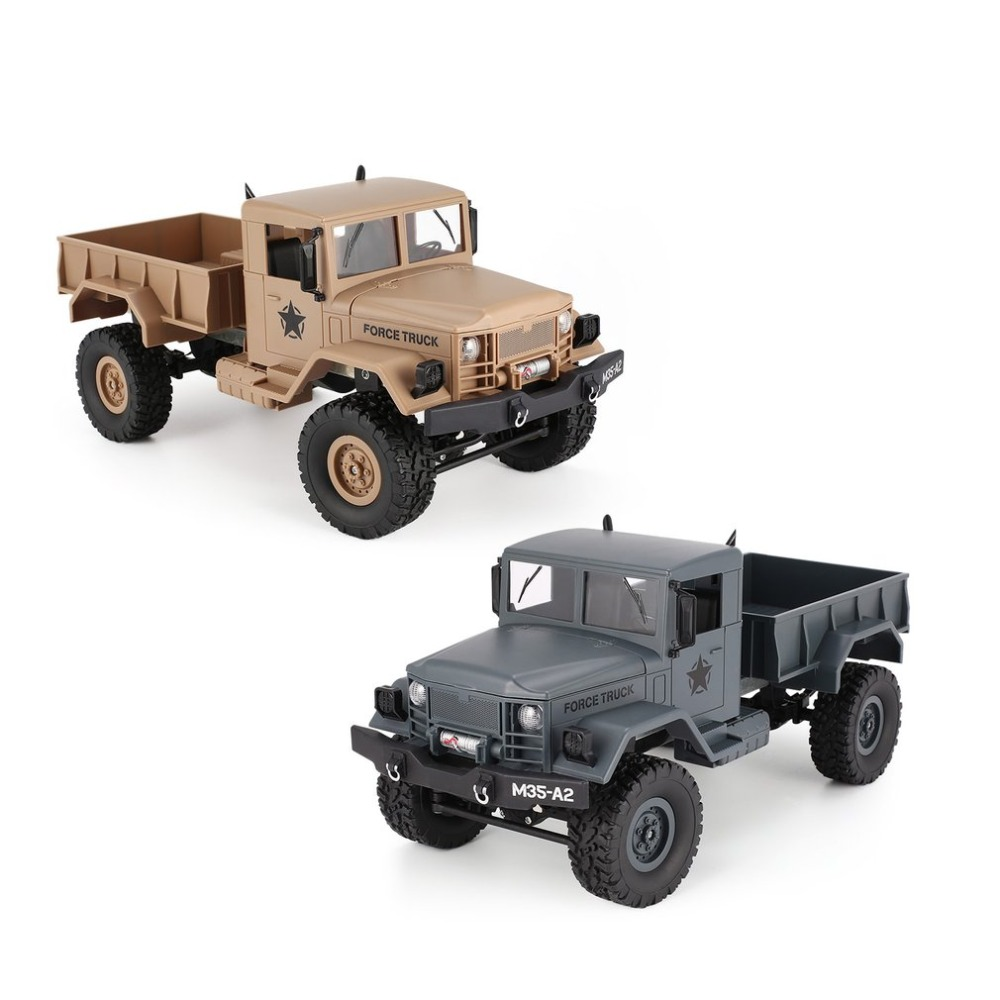 OCDAY FY001A 2.4Ghz 1/16 4WD Off-road RC Military Truck Climber Crawler RC Car Remote Control with Front Light for Kids Toy Gift remote control 1 32 detachable rc trailer truck toy with light and sounds car