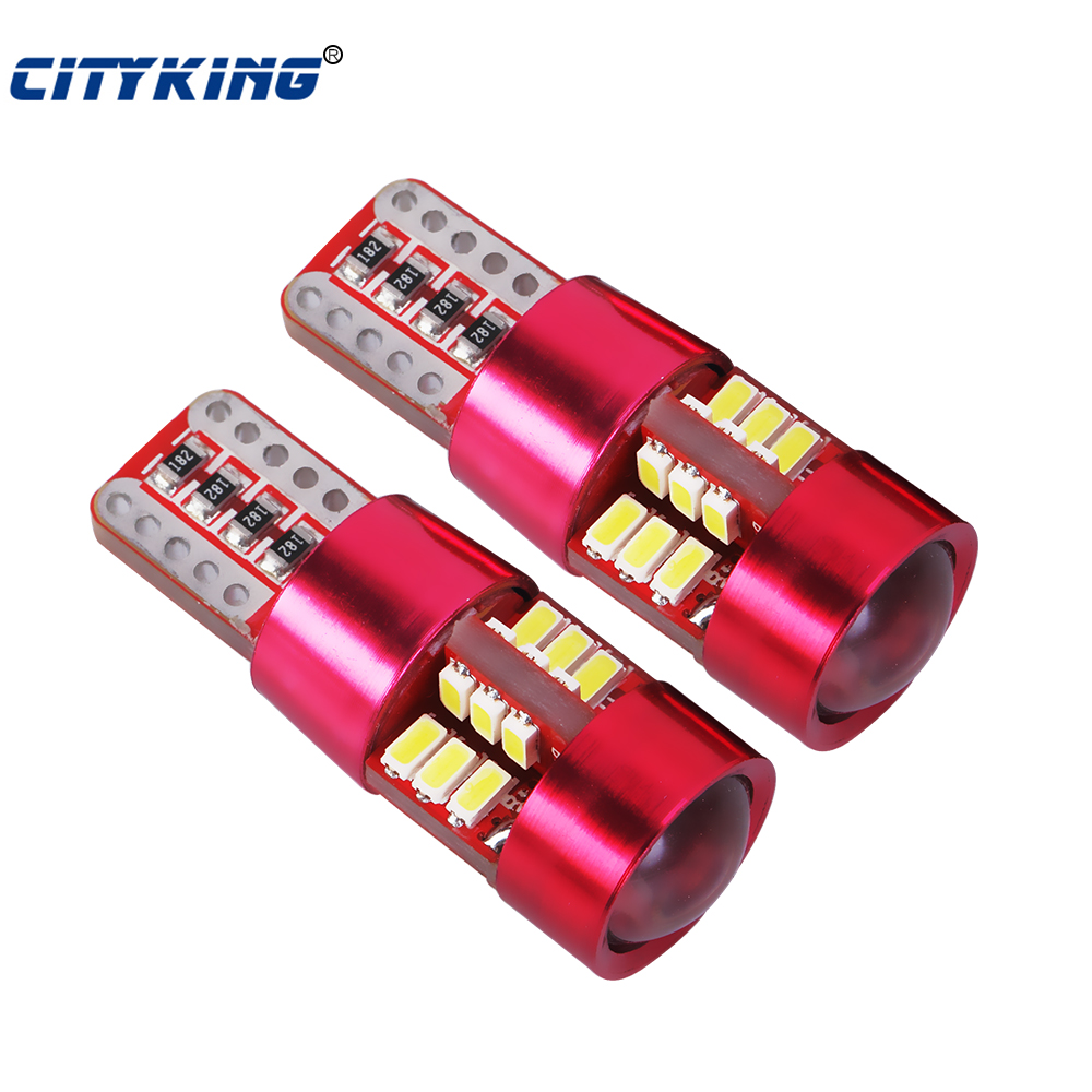 100pcs W5W t10 27LED SMD 3014 Error Free 194 168 LED Universal parking T10 LED CANBUS