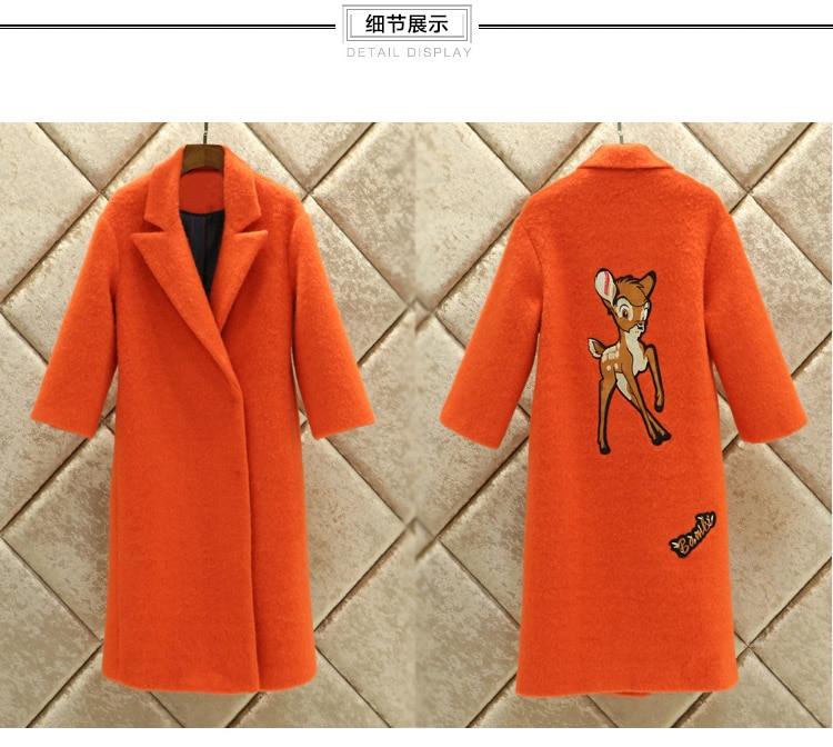 Orange Laine Pardessus Lumière Cachemire Mode Femmes De Mohair Hiver G539 Rembourré Manteau Lâche Survêtement 2018 Automne Doublure thsCxQrdB