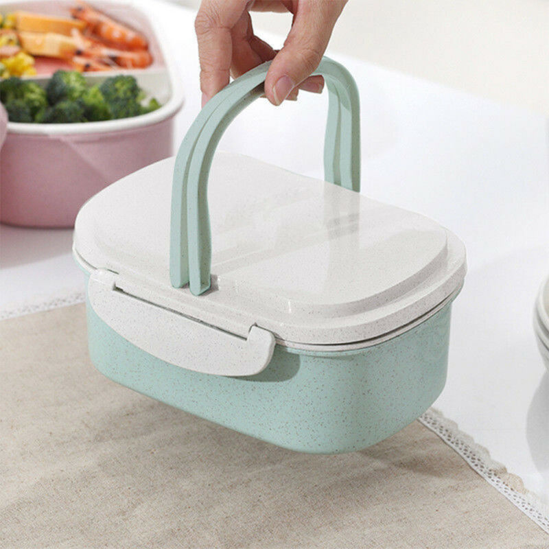 Portable Bento Box Wheat Straw Child Lunch Box Leak-Proof Bento Lunch Box For Kids School Food Container