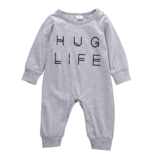 Helen115 Lovely Newborn Kids Chlidren Baby Boys Girls Clothes Cotton Bodysuit Outfits 0-24Months
