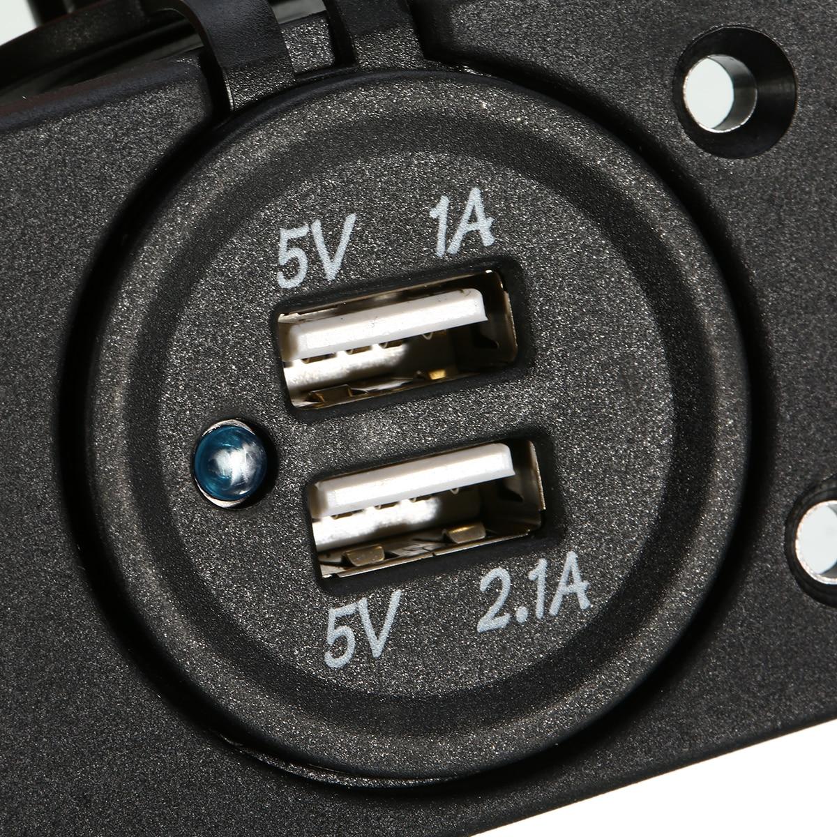 Kiváló minőségű 12 V-os kettős USB-töltő hálózati adapter, - Autóalkatrész - Fénykép 6
