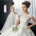 Cheap 2016 Hot Strapless Querida branco marfim Nupcial Do Vestido de Casamento Vestido Formal Frete Grátis com manga comprida lace Vestidos de Casamento