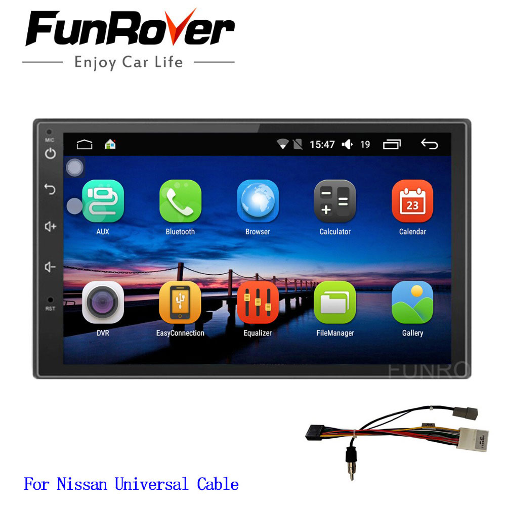 Funrover Android 8.0 2 din universal car dvd player For Nissan Qashqai X-trail radio gps navigation stereo player navi wifi RDSFunrover Android 8.0 2 din universal car dvd player For Nissan Qashqai X-trail radio gps navigation stereo player navi wifi RDS