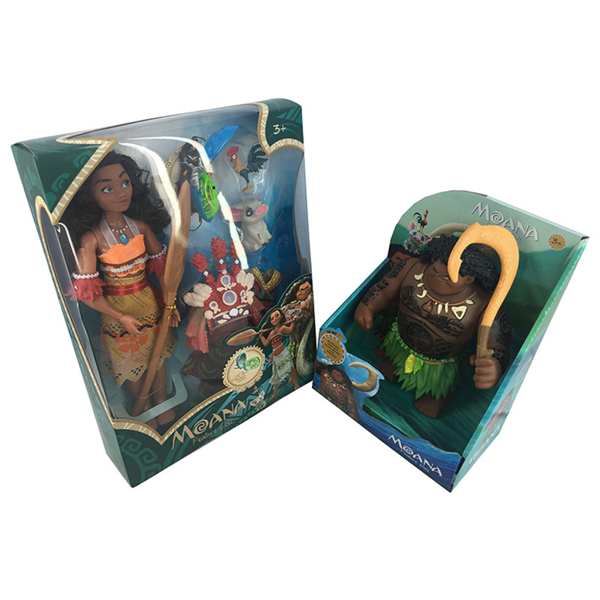 30cm Moana  Maui Action Figures Toys Model Dolls with Music For Girls Kids Lover Christmas Gifts With Retail Box landscape with figures givernyрепродукции моне 30 x 30см