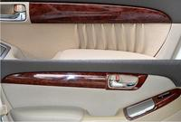 Luxury Wood Chrome For TOYOTA Prado 2003 2009 Car Interior Side Door Decorative Frame Cover Trims Car Styling Auto Accessories