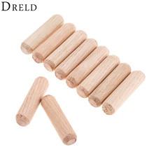 Wooden Dowel 8x30mm Furniture-Fittings Dowel-Pins-Rods-Set Round Cabinet DRELD 100pcs