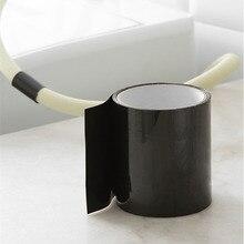 Черный 1520 мм супер сильный стоп утечки Уплотнение волокно Водонепроницаемый Ремонт Лента производительность самофиксация клейкая лента Fiberfix