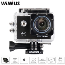 "Wimius 4K Action Cam WIFI WebCamera Full HD 1080P 16MP Waterproof Sport Camera 170Deg Wide-angle 2.0 ""LCD screen+Accessories Kit"