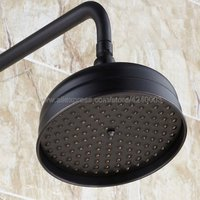 Black Oil Rubbed Bronze Round Bathroom Rain Shower Head Rainfal Bath Shower Top Sprayer Ksh009