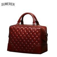 SUWERER 2019 New Women Genuine Leather bags luxury handbags women bags designer handbags women bags women leather handbags